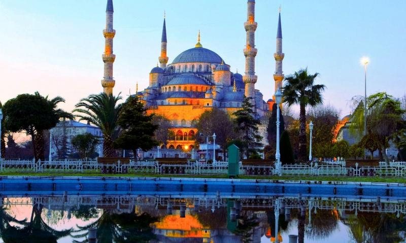 Turkey, Istanbul, Blue Mosque, Hippodrome, Bosphorus, Sofia